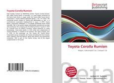 Buchcover von Toyota Corolla Rumion