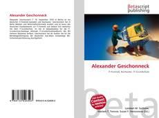 Buchcover von Alexander Geschonneck