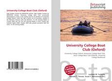 Capa do livro de University College Boat Club (Oxford)