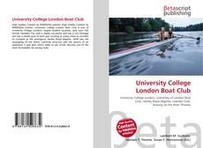 Copertina di University College London Boat Club