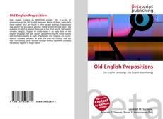 Buchcover von Old English Prepositions