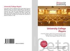 Capa do livro de University College Players