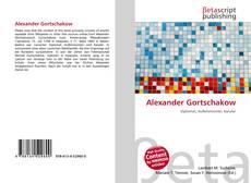 Buchcover von Alexander Gortschakow