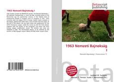 Buchcover von 1963 Nemzeti Bajnokság I