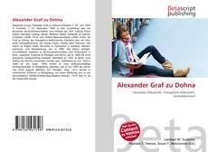 Buchcover von Alexander Graf zu Dohna