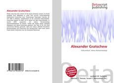 Couverture de Alexander Gratschew