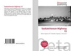 Saskatchewan Highway 13 kitap kapağı
