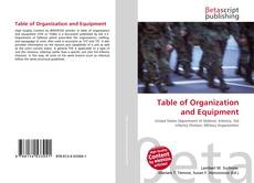 Copertina di Table of Organization and Equipment