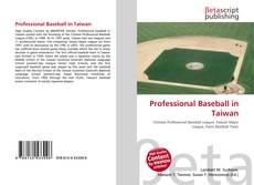 Bookcover of Professional Baseball in Taiwan