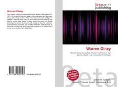 Обложка Warren Olney