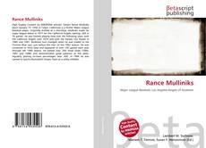 Rance Mulliniks的封面