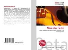 Portada del libro de Alexander Hacke