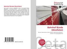 Bookcover of Bahnhof Bünde (Westfalen)