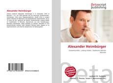 Обложка Alexander Heimbürger