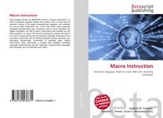 Bookcover of Macro Instruction