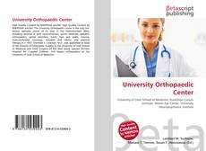 Bookcover of University Orthopaedic Center