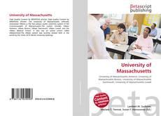 Обложка University of Massachusetts