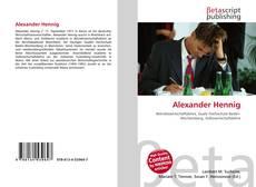 Bookcover of Alexander Hennig