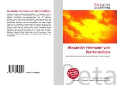 Alexander Hermann von Wartensleben kitap kapağı