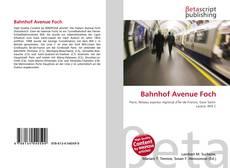 Bahnhof Avenue Foch kitap kapağı