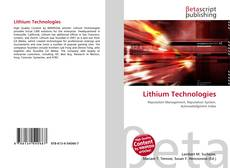 Bookcover of Lithium Technologies