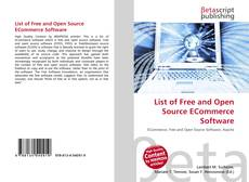 Buchcover von List of Free and Open Source ECommerce Software