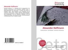 Borítókép a  Alexander Hoffmann - hoz