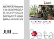 Buchcover von Rancho Azusa de Duarte