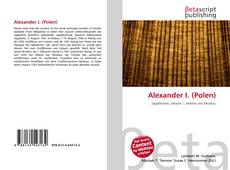 Portada del libro de Alexander I. (Polen)