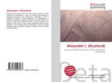 Bookcover of Alexander I. (Russland)