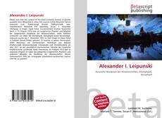 Portada del libro de Alexander I. Leipunski