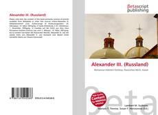 Bookcover of Alexander III. (Russland)