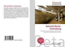 Capa do livro de Bahnhof Berlin-Schöneberg