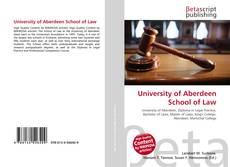 Bookcover of University of Aberdeen School of Law
