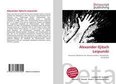 Portada del libro de Alexander Iljitsch Leipunski