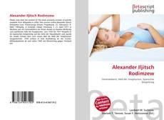 Capa do livro de Alexander Iljitsch Rodimzew
