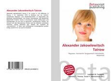 Couverture de Alexander Jakowlewitsch Tairow