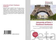 University of Paris 1 Pantheon-Sorbonne kitap kapağı