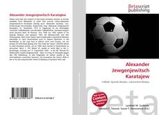Bookcover of Alexander Jewgenjewitsch Karatajew