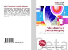 Capa do livro de Patrick Robinson (Fashion Designer)