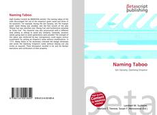 Bookcover of Naming Taboo