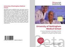 Bookcover of University of Nottingham Medical School