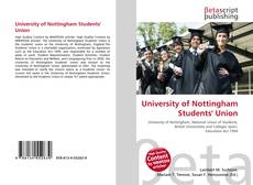 Bookcover of University of Nottingham Students' Union