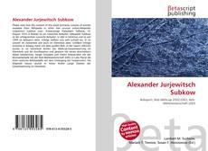 Bookcover of Alexander Jurjewitsch Subkow