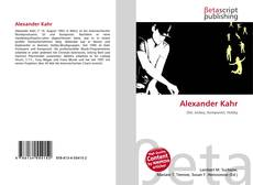 Capa do livro de Alexander Kahr