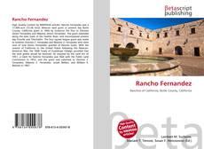 Bookcover of Rancho Fernandez