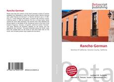 Capa do livro de Rancho German