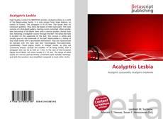 Обложка Acalyptris Lesbia