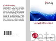 Bookcover of Acalyptris Limoniastri