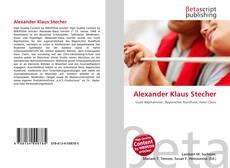 Alexander Klaus Stecher kitap kapağı